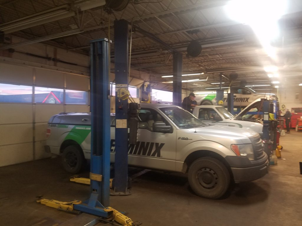 Terminix fleet preventive maintenance in the bays